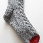 Knitted bed socks, 100% merino wool..
